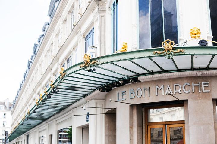 When art de vivre meets shopping deluxe - Le bon marche luminaires ...
